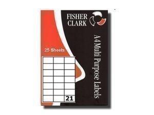 Fisherclark - Etiquettes d'Adresse Imprimante Multi-Usages A4 21 par Feuillet - L7160
