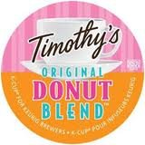 Timothy's World Coffee Donut Blend for Keurig Brewers 96 K-Cups