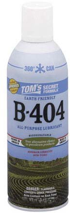 Tom's Secret Formula B-404 Biodegradable All Purpose Spray Lubricant
