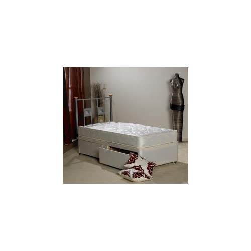 Apollo Beds Ortho Damask Single 3ft Divan bed with Two Side Draws and Orthopaedic