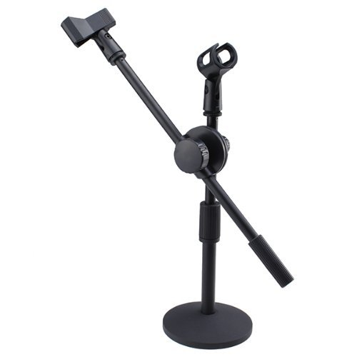 Brainydeal Desktop Mike Stand Boom Microphone Stands Tripod