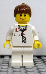 Lego Female Doctor (Scientist) Minifigure Works Great with 21110 Research Institute