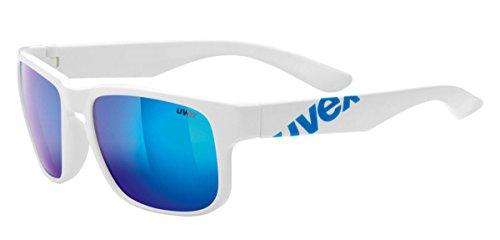 Uvex LGL 22 - Gafas de ciclismo unisex, color blanco / azul