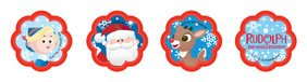 1 X 12 Rudolph & Friends Cupcake Rings Cake Toppers - 1