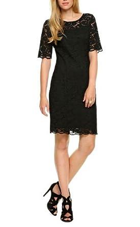oliver selection damen kleid knielang 44 schwarz. Black Bedroom Furniture Sets. Home Design Ideas