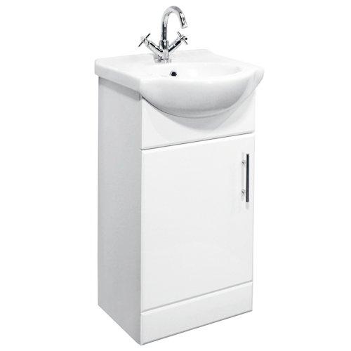 450 White Gloss Bathroom Vanity Unit