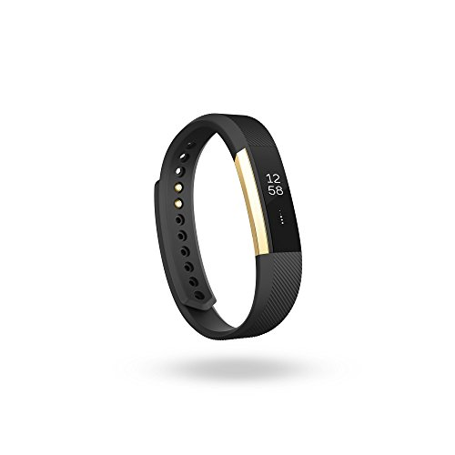 Fitbit Alta Fitness Tracker, Special Edition Gold, Black, Small