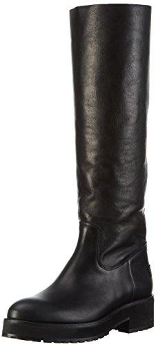 Shabbies AmsterdamShabbies 45cm highboot New Poro sole Pointy Lois - Stivali alti antiscivolo Donna, Nero, 36 EU