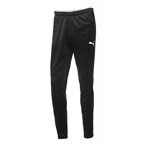 PUMA Men's Training Pant, Black/White, Large
