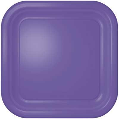 Purple Square Dessert Plates (12 count)