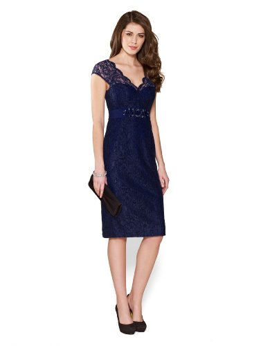 Monsoon Womens Layla Lace Dress Size 8 Blue