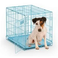 I-Crate Single, Color: Blue; Size: 24 X 18 X 19 (Catalog Category: Dog:Crates) front-41282