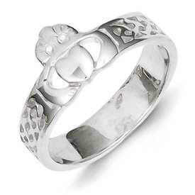 Genuine IceCarats Designer Jewelry Gift Sterling Silver Claddagh Ring Size 6.00