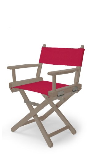 Telescope Casual Child'S Director Chair, Rustic Grey With Red Canvas Fabric