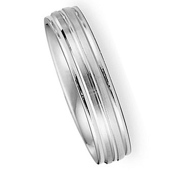 4.00 Millimeters White Gold Wedding Band Ring 14Kt Gold on Sale, Comfort Fit Style SE3118W4 Finger Size 5½