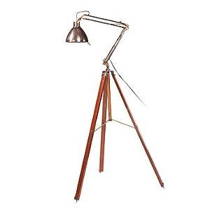 milieu home goods wooden leg floor lamp desk lamps. Black Bedroom Furniture Sets. Home Design Ideas