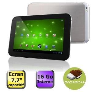 "Toshiba PDA09E-00200MFR Tablette 7,7 "" ( 19,5 cm) Nvidia Tegra 1,3 GHz Android 4.0 Argent"