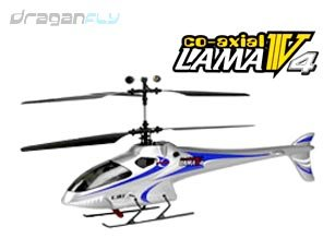 E-Sky 4 CHANNEL LAMA V4 RTF Coaxial Remote Controlled Helicopter (Blue Color)