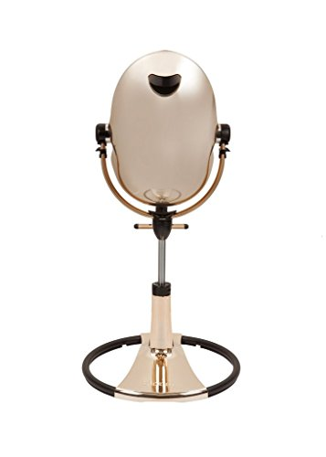 Bloom Fresco Chrome Comtemporary Baby Highchair Special Edition - Rose Gold w/ Black Seatpad