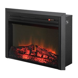 Cheapest Prices! Muskoka 28 in. LED Log Set Electric Firebox Insert in Black