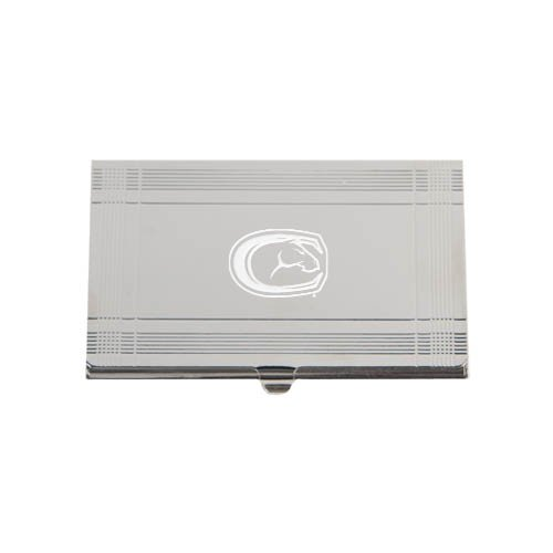 Uc Davis Silver Business Card Holder 'Official Logo Engraved'