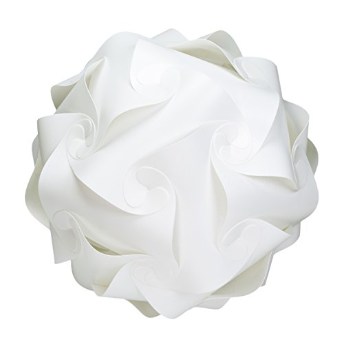 """WYZworks Puzzle Lamp WHITE Modern Light Shade Ceiling Pendant (Large 16"""")"""