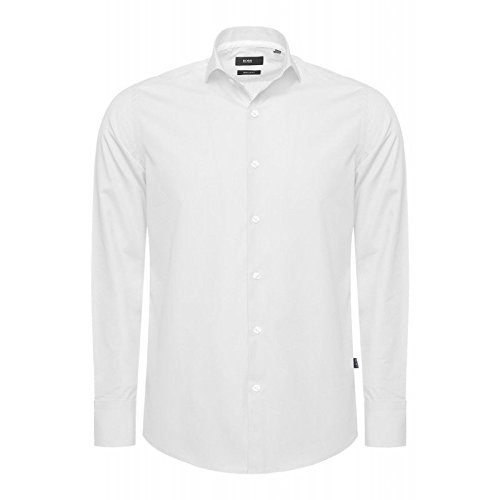 Hugo Boss - Chemise business - Homme -  Blanc - Medium