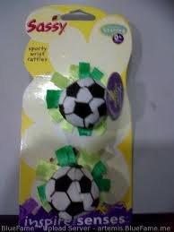 Sassy Sporty Wrist Rattles - Soccer - 1