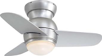 Minka Aire F510-BS One Light Brushed Steel Hugger Ceiling Fan