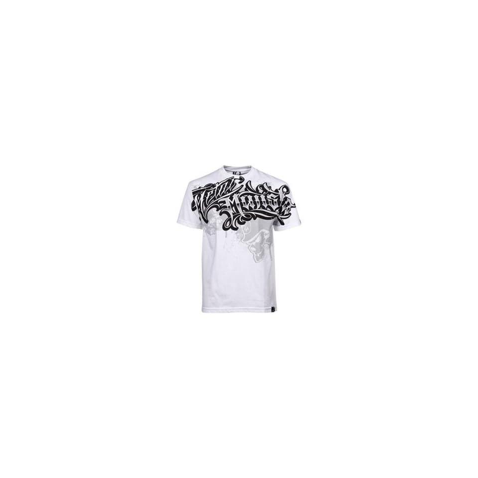 Metal Mulisha Lost Skulls T Shirt   X Large/White
