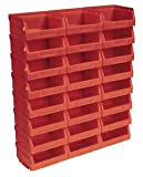 TPS124R Plastic Storage Bin 103 x 85 x 53mm - Red Pack of 24