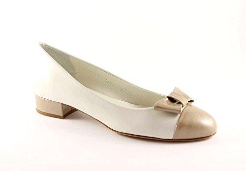 MELLUSO N511 corda scarpe donna decolletè ballerine pelle fiocco 40