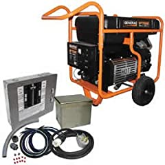 Generac GP17500E - 17,500 Watt Electric Start Portable Generator w/ Power Transfer Kit - EGD-5735KIT