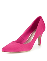 M&S Collection Faux Suede Pointed Toe Court Shoes with Insolia®