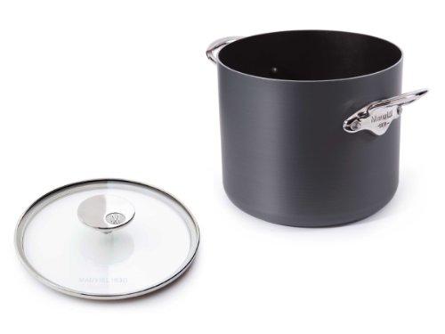 Mauviel M'Stone Ceramic Non-Stick 2 8232.75 Stock Pot With Glass Lid, 9.0-Quart