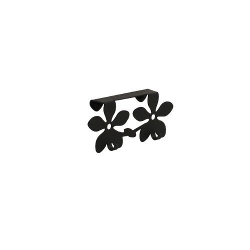 Spectrum Diversified Flower Over the Cabinet Door Double Hook, Black (Over The Door Double Hook Black compare prices)