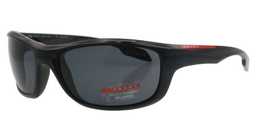 prada Prada Sport PS04NS Sunglasses-1AB/5Z1 Black (Polarized Gray Lens)-65mm