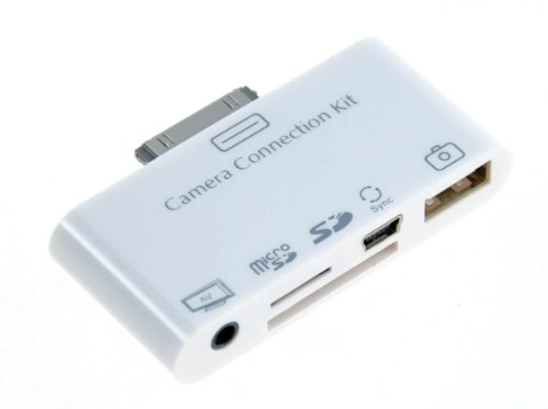 Neue Gadget!?5 in 1 Kamera Connection Kit SD &amp; USB AV Kabel f&#168;&#185;r Apple iPad mit Audio-und Video-Ausgang (AV Out) USB 2.0 zusammen mit Mini-USB-Port Micro SD Card Slot - 12 Monate Garantie&gt;&gt;&gt; THT Handel --- 1520