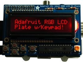 Adafruit Industries - 1110 - Rgb Negative 16X2 Lcd + Keypad Kit, Raspberry Pi