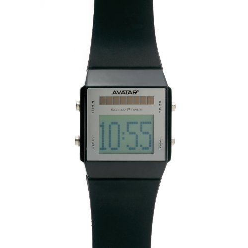 Zoppini-Avatar 4002-Solar Powered Black Rubber Watch