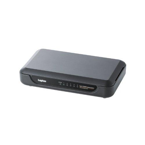 Logitec スイッチングハブ 5ポート プラスチックケース 電源外付 10/100Mbps ブラック LAN-SW05/PHB