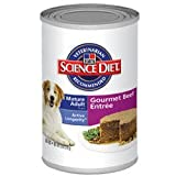 Hill's Science Diet Canine Mature Adult 7+ Gourmet Beef Entree Canned Dog Food