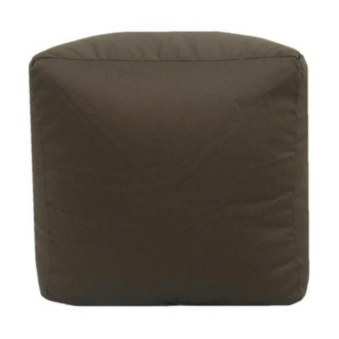 Cotton Drill Beanbag Cube Fabric Footrest Stool Pouffe