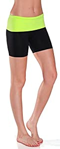 Emmalise Fold Over Compression Tight Exercise Shorts