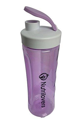 La bouteille d'eau de Nutrilovers, Nutri-Bottle, un Shaker lilas de 600ml