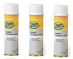 Zep Professional Lemon Furniture Polish Pack of 3 - 20oz Aerosols