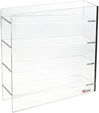 """Dynalon 186665 Acrylic Pipette/Pippettor Rack, 12.437"""" Length x 3.437"""" Width x 13"""" Height, 4-Place Pipette"""