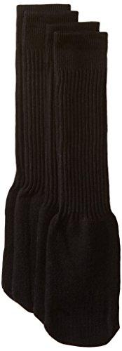 trimfit Big Boys' 2-Pack Soccer Socks, Black, Large