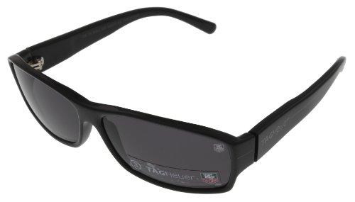 Tag Heuer Sunglasses Unisex Black Th9062 105 Carbon Rectangular