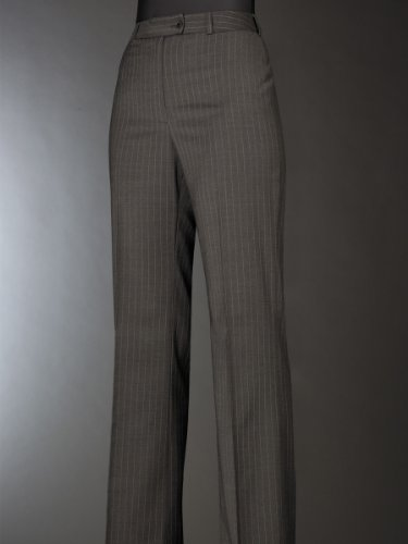 Brook Taverner Varese Suit Trouser in Charcoal Pinstripe 14L